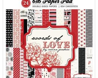 Carta Bella - Words Of Love - Paper Pad 6x6