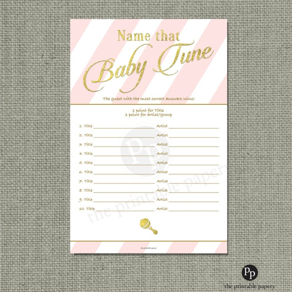 BABY SHOWER NAME THAT TUNE SONG LIST | Baby Shower