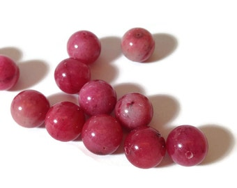 Genuine Pink Agate Balls 12mm 6pcs