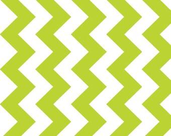 Lime Medium Chevron by Riley Blake 1 Yard, Manufacturer Cut