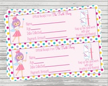 Tooth Fairy Receipt DIGITAL INSTANT DOWNLOAD