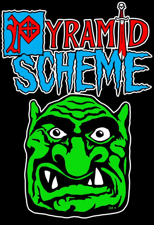 troll logo pyramid scheme medieval madness pinball parody