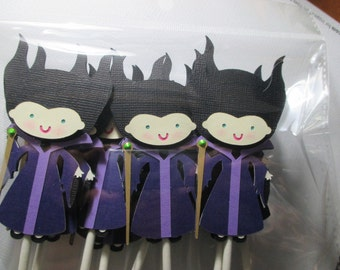 Maleficant Cupcake Toppers