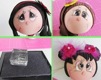 Bundle Pack Fofucha Doll Eye Stamps- Create perfect eyes for your Fofucha