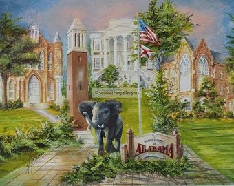 University of Alabama Print by Anni Moller