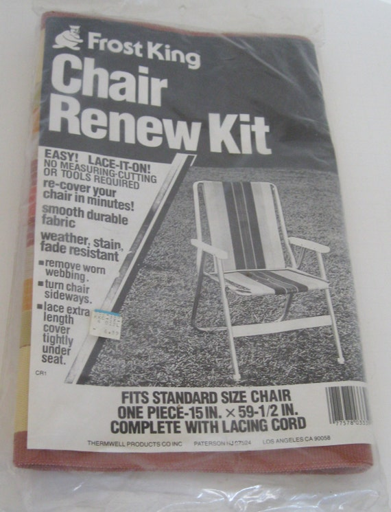 vintage frost king chair renew kit lawn chair webbing fits. Black Bedroom Furniture Sets. Home Design Ideas