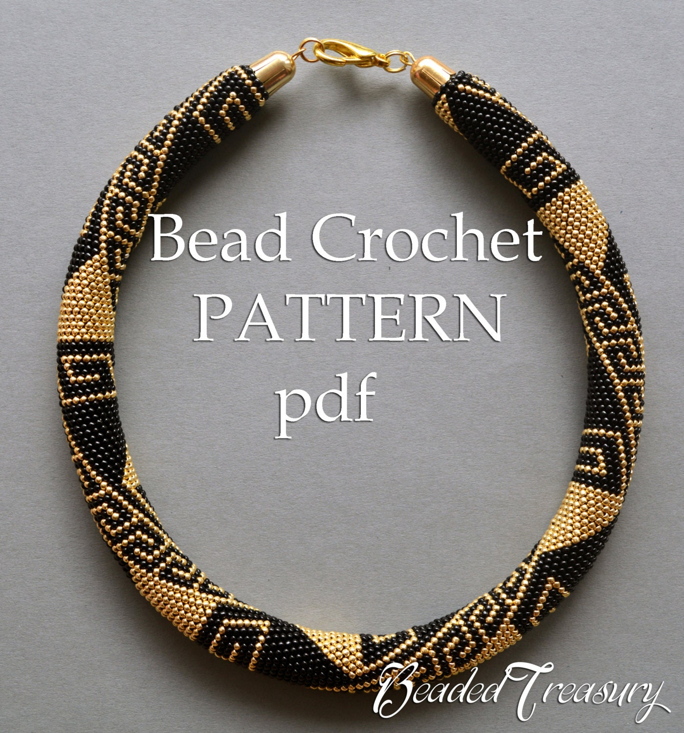 Greek meanders bead crochet pattern beaded necklace seed bead zoom bankloansurffo Image collections