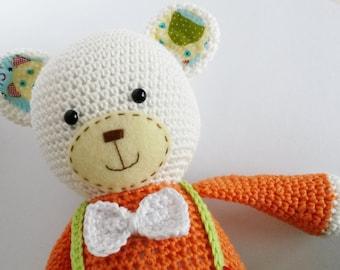 Amigurumi Teddy Bear, (Smugly-Bear, pattern Lilleliis) crochet, amigurumi
