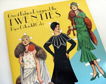 Great Fashion Designs of the Twenties Paper Dolls - Tom Tierney, Roaring 20s, haute couture, costume designers, vintage fashion ephemera