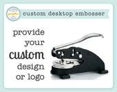 Custom Embosser - Logo Embosser - Desk Embosser - Personalized Embosser - Embossing Seal Stamp - Use for Wedding or Branding