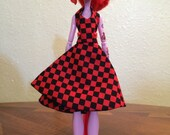 Red Checkered Halter Dress for Monster High