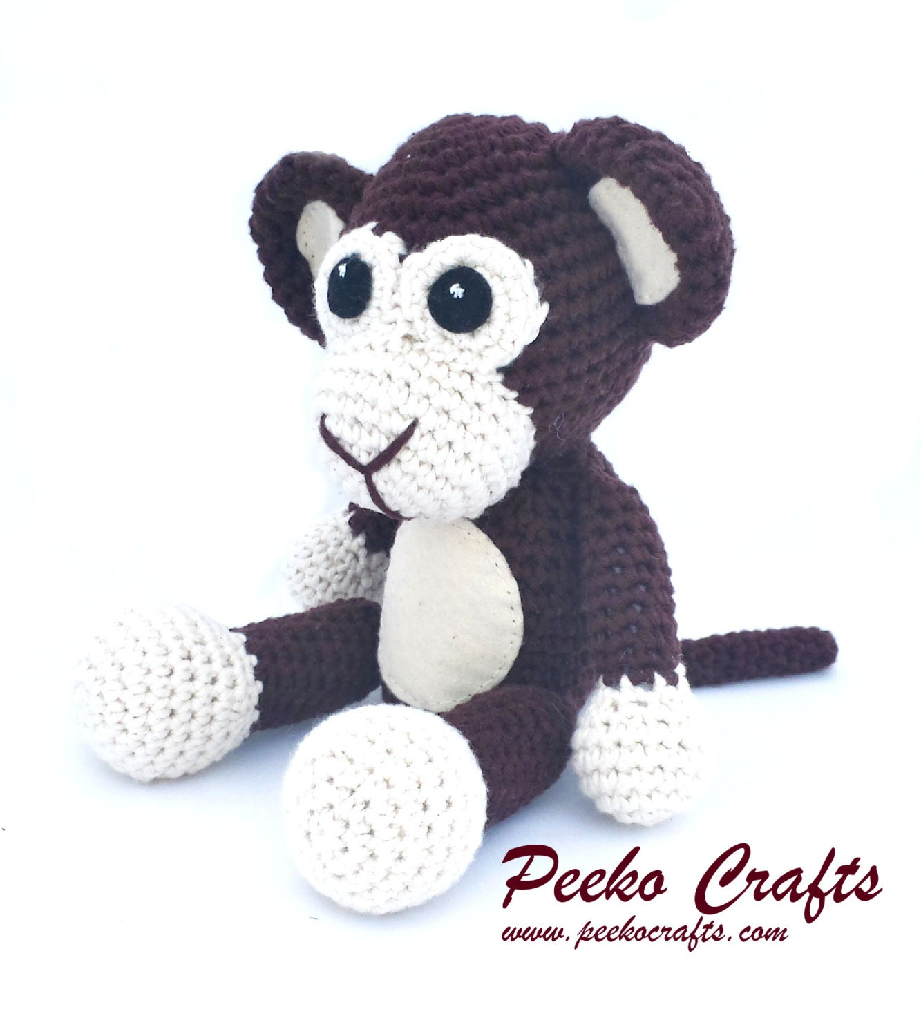 Amigurumi Monkey Etsy : Amigurumi Monkey Crochet Pattern by PeekoCrafts on Etsy