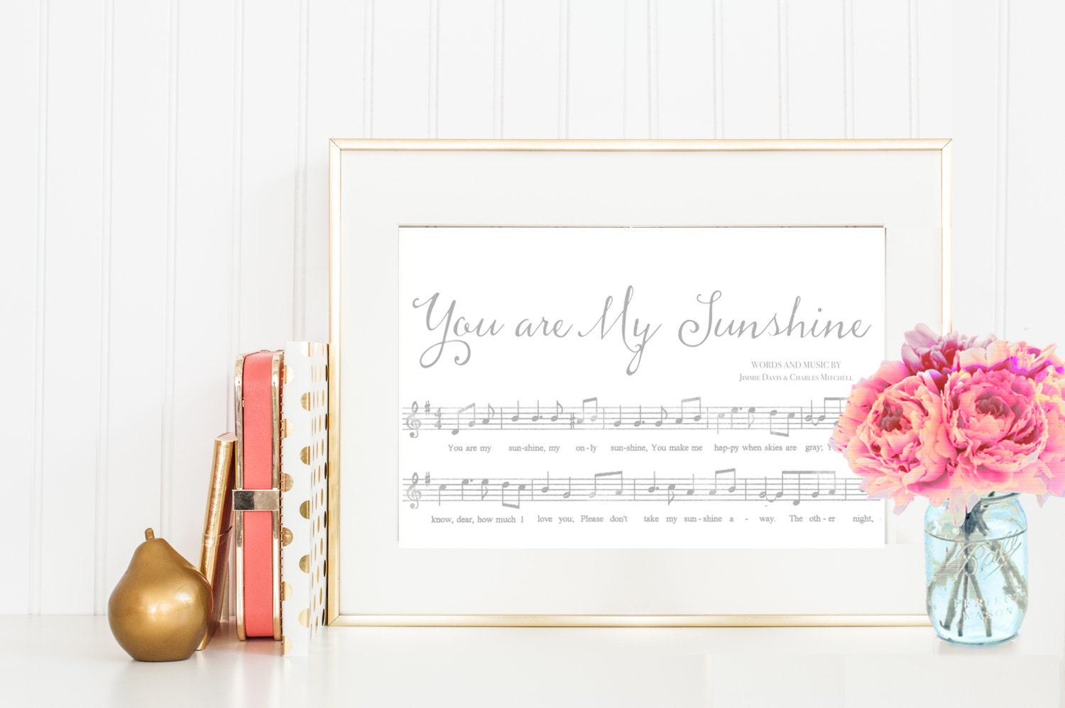 you are my sunshine sheet music instant download and