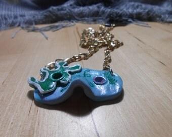 Madi Gras Sea Mask Necklace
