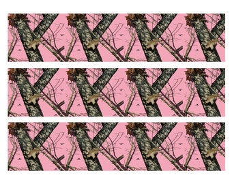 Pink Mossy oak and Pink Real Tree RealTree edible cake strips cake toppers frosting sheet