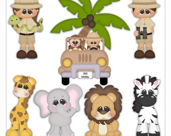 DIGITAL SCRAPBOOKING CLIPART - When I Grow Up Zoo Keeper