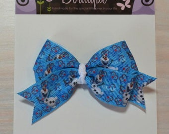 Boutique Style Hair Bow - Frozen Olaf