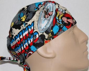 Scrub hat/ super hero/avengers/ wolverine/ capt America