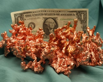 Molten Copper Abstract Sculpture 1138 grams - COPR007