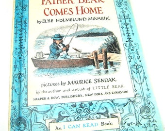 Vintage Children's Book 1959- Father Bear Comes Home by Else Holmelund Minarik, Pictures by Maurice Sendak, an I Can Read Book