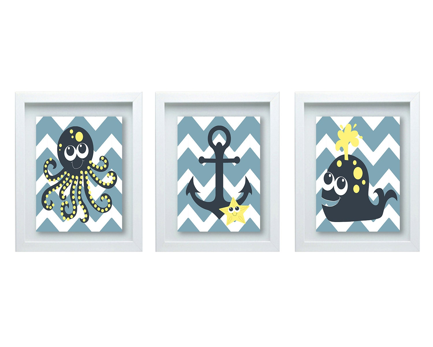 Nautical Bathroom Wall Decor : Girls or boys bathroom wall art nautical decor