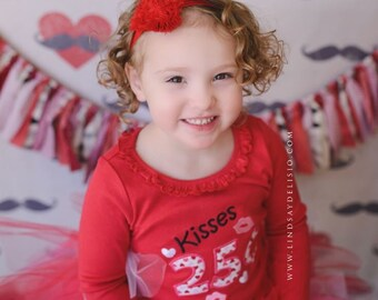 Kisses 25 cents Valentine's Day shirt Valentines Day girls shirt