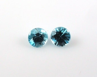BLUE ZIRCON Round  5MM sale by Best in Gems (7256)