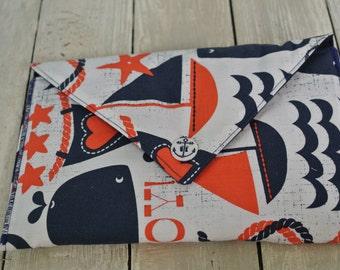 Ahoy Matey Fabric Envelope