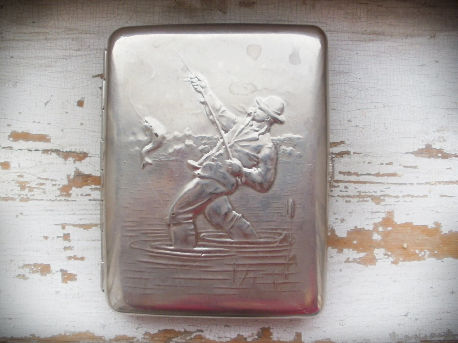 Compact Cigarette case Fishing, Business Card holder ...