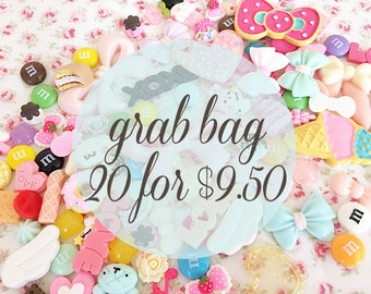 Cabochon Grab Bag - Kawaii Resin Cabochons for Decoden Phone Cases - Miniature Sweets Cabochon - Flatback Pastel Cabochon DIY Project