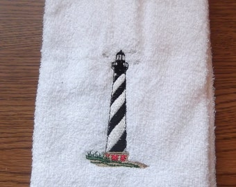 Embroidered ~LIGHTHOUSE~ Kitchen Bath Hand Towel