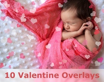 Heart Overlay - Valentine Overlays - Valentine's Day Overlays - Photoshop Overlays