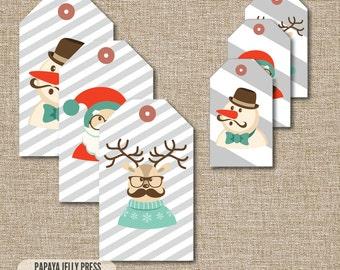 Christmas Gift Tags Christmas tags gift tags Mustache santa Stripes Hipster  sc 1 st  Etsy & Yo Gabba Gabba Food Tents Brobee Muno Foofa Plex and