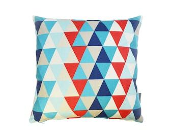 Harlequin Geometric fabric cushion cover  - Kaleidoscope Blue