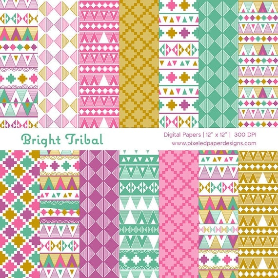 Tribal Aztec Digital Paper Pack