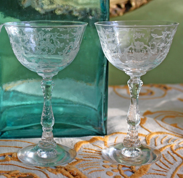 antique fostoria crystal fine crystal by anythingdiscovered