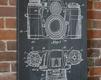Camera Canvas Patent Print, Camera Art, Camera Print, Photography Prints, Canvas Print, PP0006
