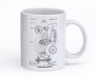 Bicycle Mug, Bicycle Coffee Mug, Cyclist Gift, Bike Art, Bicycle Gift, PP0025