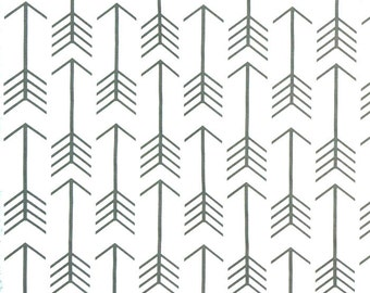 Premier Prints Arrow White Cool Grey Fabric - Grey and White Fabric - Fabric by the 1/2 yard