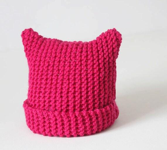 Knitting Pattern For T Bag Hat : Cat Ear Hat Knitting Pattern for Toddler Girls by ...