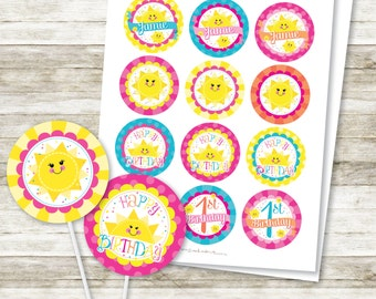 You are My Sunshine My Only Sunshine DIY Printable Cupcake Topper