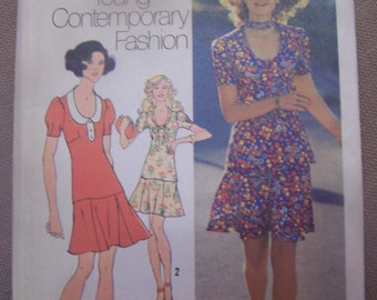 Simplicity 9915, size 14, UNCUT sewing pattern, mini-dress, misses, craft supplies