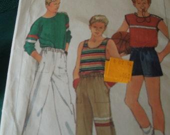 Simplicity 6927, sizes 14-18, teens, boys, UNCUT sewing pattern, tops, pants, shorts