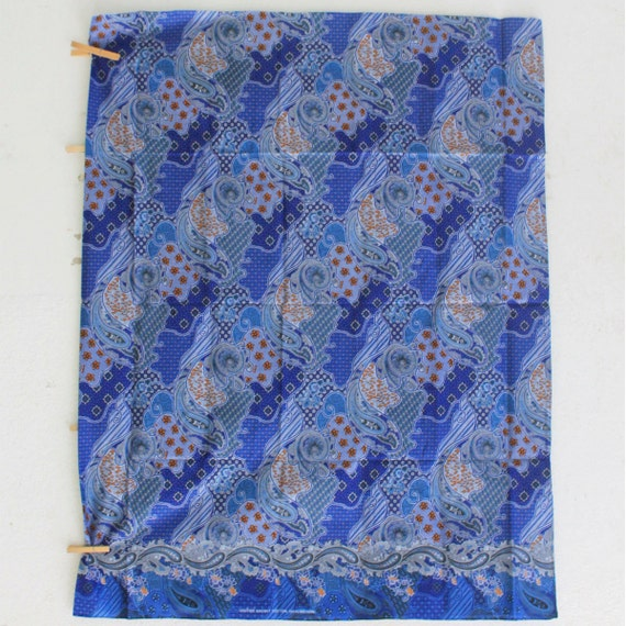 Blue Flowers Traditional Thai Batik Stylebatik Sarong