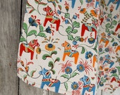 Swedish Horse Kitchen Towel Dala Horse Tea Towel Scandinavian Folk Art Dish Towel Dala Horse Towel Gift For Horse Lover Christmas Gift