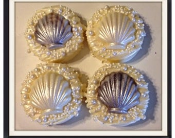 Seashell Beach Theme chocolate covered shimmering oroes