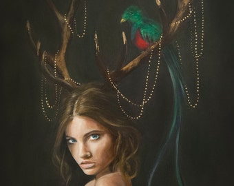 Illustration: Lady Quetzal by Marisa Jiménez LIMITED EDITION 1/100.