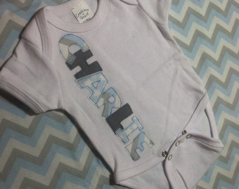 Newborn name outfit, Name Onesie, Newborn name Onesie, Hospital baby Outfit, Custom Name Onesie