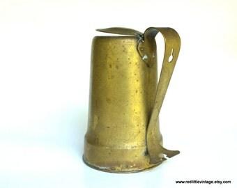 Brass Teapot, Reed and Barton Brass, Antique Brass,  Vintage Brass Coffee Pot, Primitive Kitchen Decor