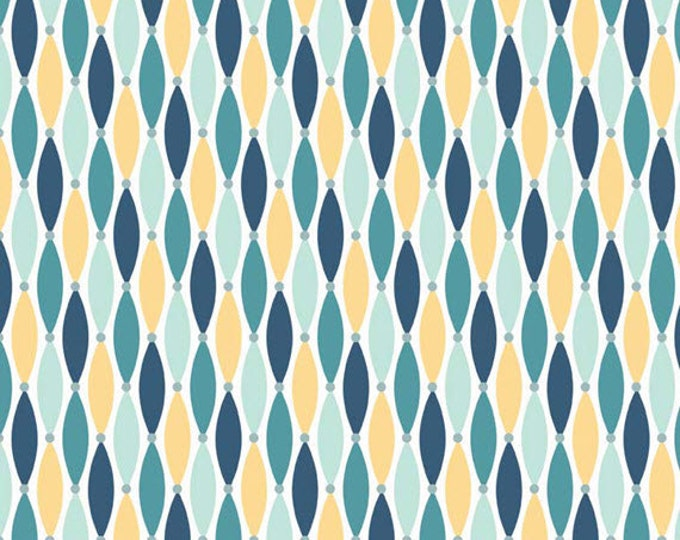 Half Yard Fly Aweigh - Lures in Blue - Nautical Cotton Quilt Fabric - C3875-BLUE - by Samantha Walker for Riley Blake Designs (W2528)